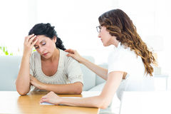Therapist comforting her patient Royalty Free Stock Photography