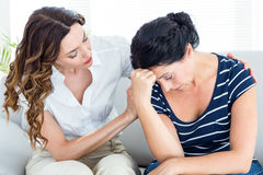 Therapist comforting her patient Royalty Free Stock Photos