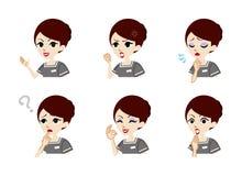 Therapist Facial expression set Stock Photos
