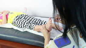 teen massage Young girl