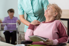 Therapist in nursing home Royalty Free Stock Photo