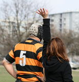 Therapist / Referee, Player Is Ready! Stock Photos