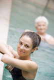 Therapist And Senior Patient In Hydro Pool Stock Photography