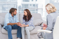 Therapist taking note Royalty Free Stock Photography