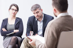 Therapist is talking about problems Royalty Free Stock Photo