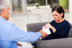 Therapist tissue patient Stock Photos