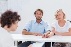 Therapist trying to help a couple Royalty Free Stock Photography