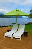 Therapy Chairs and Umbrella in Hawaii Royalty Free Stock Photo