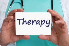 Therapy disease ill illness healthy health doctor Royalty Free Stock Images