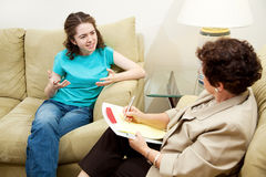Therapy - Expression Frustration Stock Image