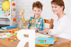 Therapy helpful in child education Stock Image