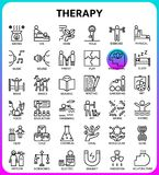 Therapy icon set based on 64px grid,outline icon. Therapy outline icon set based on 64px grid royalty free illustration