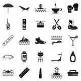Therapy icons set, simple style Royalty Free Stock Images