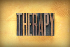 Therapy Letterpress Stock Image