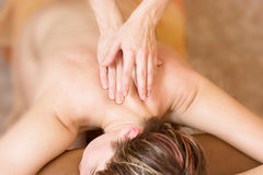 Therapy massage procedure Royalty Free Stock Images
