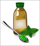 Therapy mint syrup Stock Photo