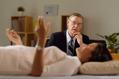 Therapy session Royalty Free Stock Photography
