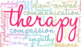 Therapy Word Cloud. On a white background Stock Image