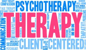 Therapy Word Cloud. On a white background Stock Photo
