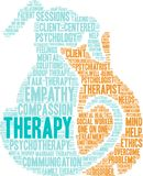Therapy Word Cloud. On a white background Royalty Free Stock Images