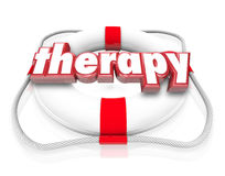 Therapy Word Life Preserver Medical Health Care Rehab Stock Photography