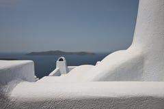 Therasia von Santorini Stockfotografie