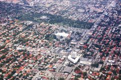 Maiami city state florida usa air view panorama stock photo