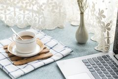 There are all kinds of office and daily necessities on the desk Stock Photography