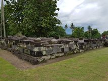 Ruins of Ratu Boko's palace. There are alot of ruins in Ratu Boko's palace. they located in Prambanan, Central Java. they are waiting to reconstruct, so the Royalty Free Stock Image