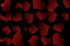 Free There Are Red Hearts On The Black Background. Happy Valentine`s Day. Stock Image - 167436921