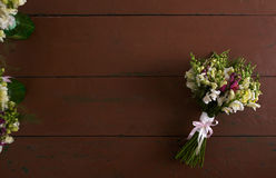 There is a beautiful wedding bouquet Royalty Free Stock Images