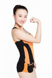 There biceps woman Royalty Free Stock Photography