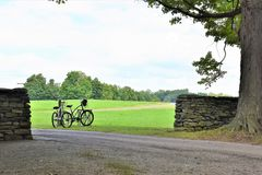 New york storm king art center bicycles trip Royalty Free Stock Image
