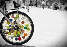 New york city  boardwalk wheel balls background Royalty Free Stock Photos