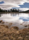 There are endless views to explore off the Tioga Pass. That goes over the Yosemite mountains Stock Images