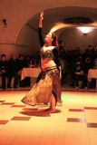 Belly Dance in Turkish Night in Turkey near Cappadocia Stock Image