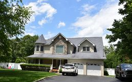 Smithtown new york state usa typical real estate. There is example of most typical architecture of real estate and design in the area of Smithtown city in New stock photo