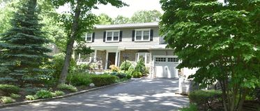 Smithtown new york state usa typical real estate. There is example of most typical architecture of real estate and design in the area of Smithtown city in New royalty free stock images