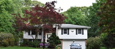 Smithtown new york state usa typical real estate. There is example of most typical architecture of real estate and design in the area of Smithtown city in New stock images