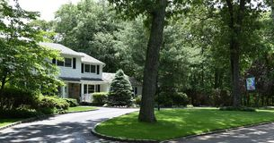 Smithtown new york state usa typical real estate. There is example of most typical architecture of real estate and design in the area of Smithtown city in New stock photos
