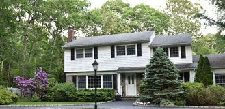 Smithtown new york state usa typical real estate. There is example of most typical architecture of real estate and design in the area of Smithtown city in New stock image