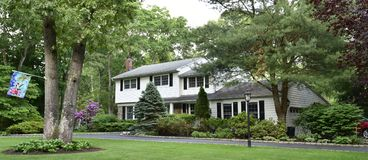 Smithtown new york state usa typical real estate. There is example of most typical architecture of real estate and design in the area of Smithtown city in New royalty free stock photos