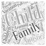 Are We There Yet Family Vacations with Autistic Children word cloud concept vector background Stock Photos