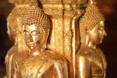 There are four small statues of Buddha in the temple Phumin Nan, Stock Photography