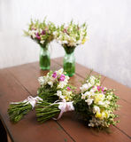 There are four wedding bouquets Royalty Free Stock Photos