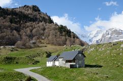Spring view of the Pyrenees mountains Royalty Free Stock Photos