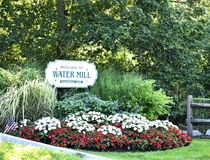 Water mill new york state historic marker royalty free stock photography