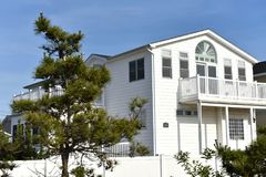 Breezy point home queens new york oceanfront private beach. There is home of Breezy Point, which is a neighborhood in the New York City borough of Queens stock images