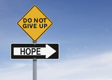 There Is Always Hope. A modified one way sign on Hope Royalty Free Stock Photos