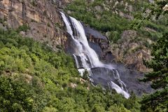 There are hundreds of beautiful waterfalls in Scandinavia. One There are hundreds of beautiful waterfalls in Scandinavia stock image